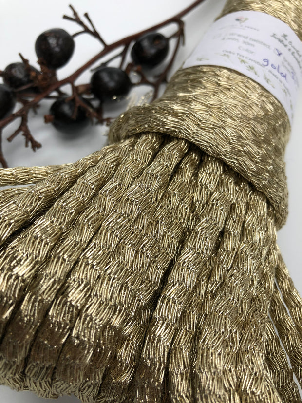 100% Metallic Braided Rope in GOLD - 5mm , 20 or 30m per bundle.