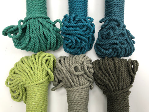 Sage Green - 4mm, 3-ply twisted rope