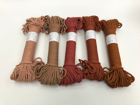 Walnut Brown - 4 mm 3-ply twisted rope