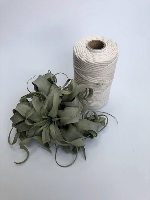 Off white, 5 mm supersoft single twisted cotton stringrope - recycled cotton