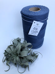 Blue denim, 5 mm supersoft single twisted cotton stringrope - recycled cotton