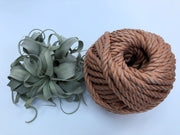 Caramel, 8mm, 3-ply twisted rope - recycled polypropyl