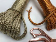 100% Metallic Braided Rope in GOLD - 5mm , 30 or 50m per bundle.