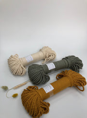 Mustard - Braided Cotton Rope - 5mm