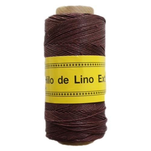 Polished and Waxed Linen (0.7mm) - Dark Chocolate (Spanish Line)