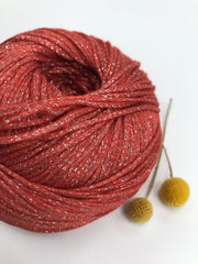 MAKO Sparkly Cotton - Terracotta - 1mm (Spanish Line)