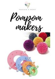 Pompom makers: set of 4 (in 4 different sizes)