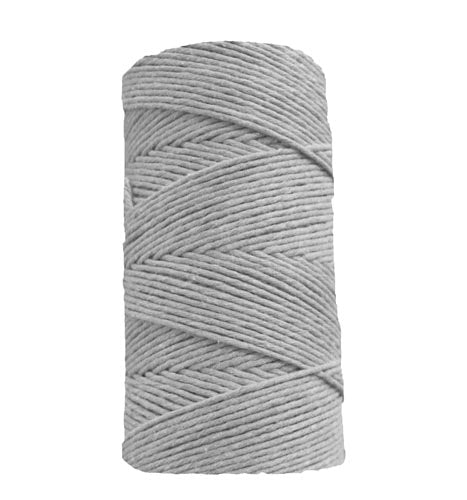 Waxed Cotton, 1 mm - Grey (Spanish Line)