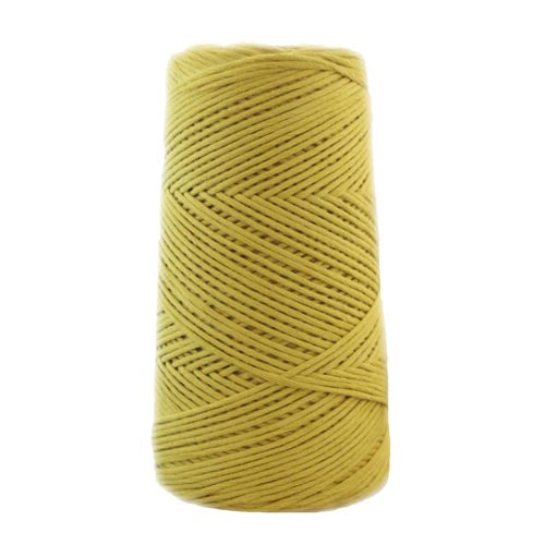 Stringrope - 2 mm - Soft grey - 100% Organic Combed Cotton (Spanish line)