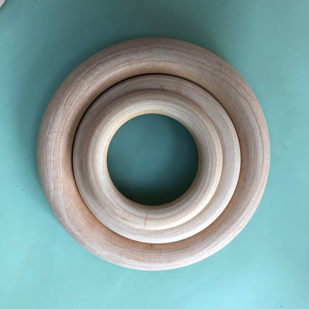 Wooden rings - safe for use as a baby teether!