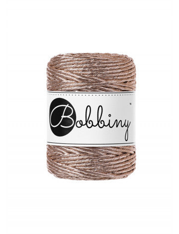 Bobbiny Metallic- 3mm (24 ply string rope) in several colors