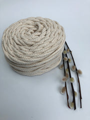 Cotton Air - Crudo - 5mm recycled braided cotton rope (Spanish Line)