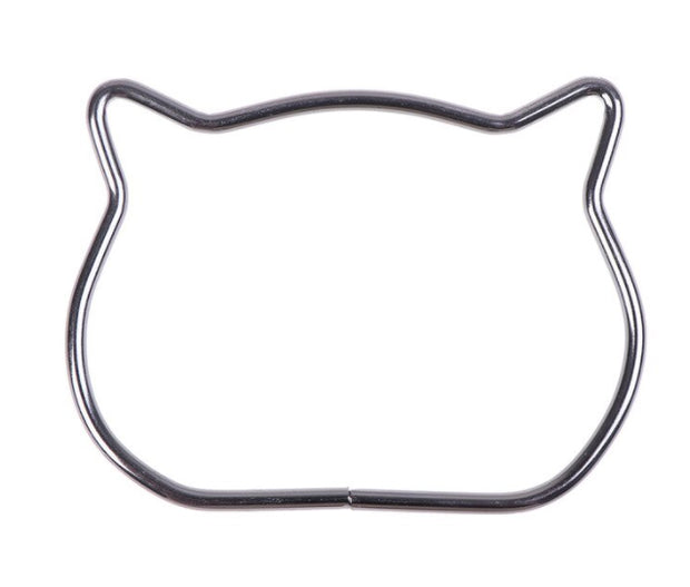 Metal cat frame in 3 colors - macrame frame / bag handle (high quality)