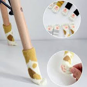 Cat feet chair socks