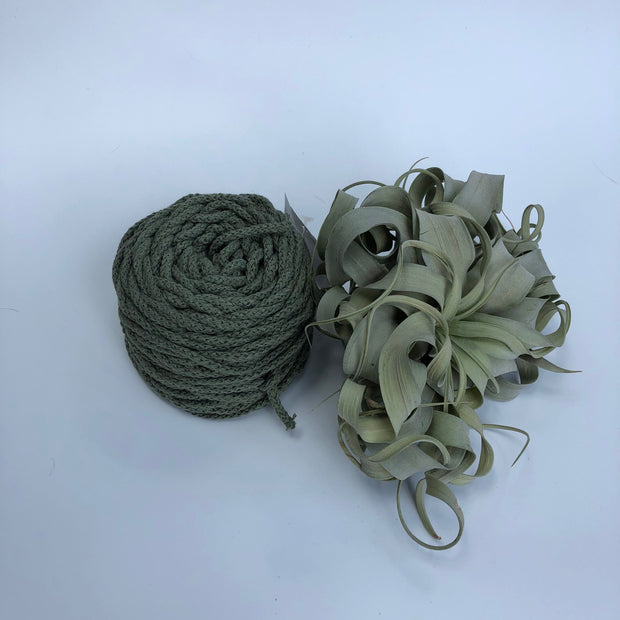 Cotton Air - Avocado - 3mm recycled braided cotton rope (Spanish Line)