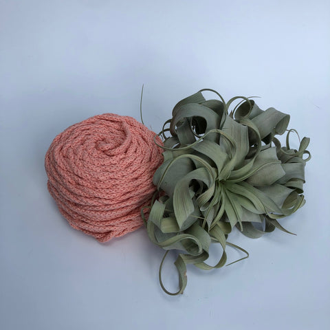 Cotton Air - Salmon - 3mm recycled braided cotton rope (Spanish Line)