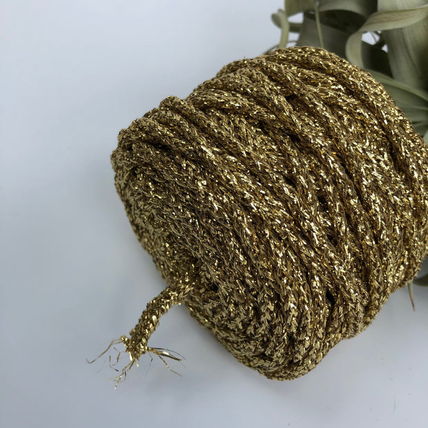 Rayon Air - Glitter - 4mm recycled braided Rayon rope in 3 variations (Spanish Line)