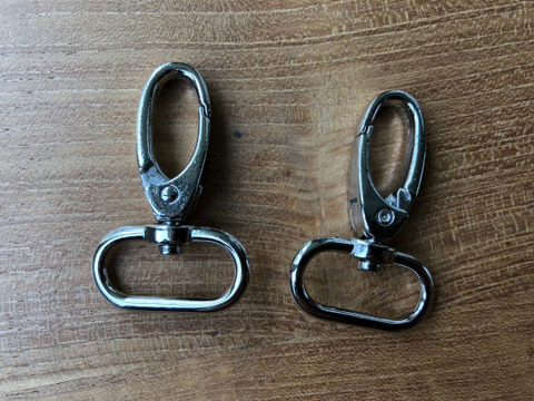 Luxe carabiners / musketonhaak (25 mm) - silver