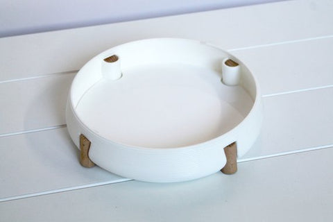Scandinavian Tray - 3D Printed with Beech Legs