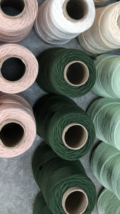 Stringrope - 4 mm - Dark green- 100% Organic Combed Cotton (Spanish line)