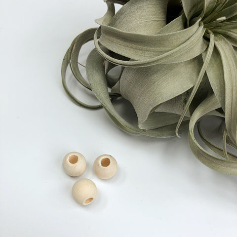 Blanc wooden beads - not vernished, with big hole. 3 sizes.