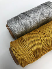 Glitter Yarn 1 mm, 3 ply - Gold (Spanish Line)
