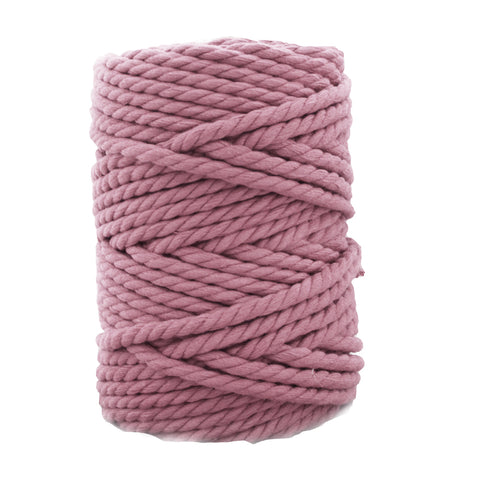 3 ply Twisted Macramerope - Soft Lilac- in 4, 6 and 8 mm (Spanish Line)