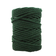 3 ply Twisted Macramerope - Black - in 8 mm (Spanish Line)