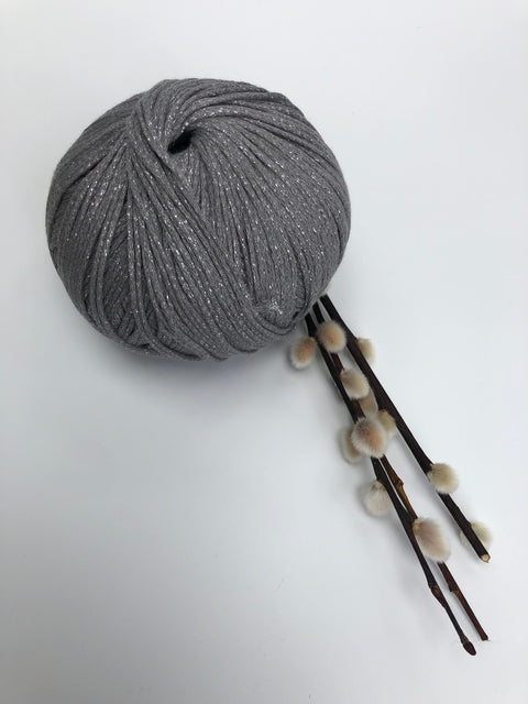 MAKO Sparkly Cotton - Silver Grey - 1mm (Spanish Line)
