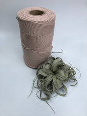 Nude, 5 mm supersoft single twisted cotton stringrope - recycled cotton
