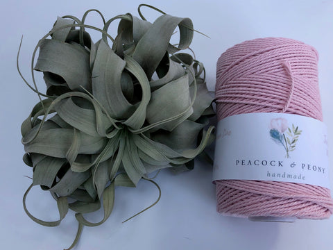 Pink & Pale Pink, 2.5mm, 3-ply twisted rope - recycled cotton