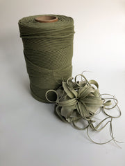 Agave, 8 mm, 130 plies supersoft single twisted cotton stringrope - recycled cotton