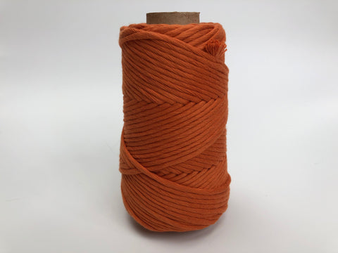 Stringrope - 2 mm - Burnt orange - 100% Organic Combed Cotton (Spanish line)