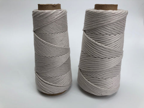 Stringrope - 4 mm - Soft grey - 100% Organic Combed Cotton (Spanish line)