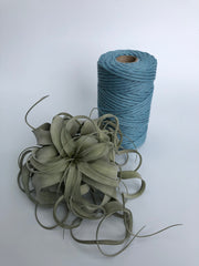 Sapphire Blue, 5 mm supersoft single twisted cotton stringrope - recycled cotton
