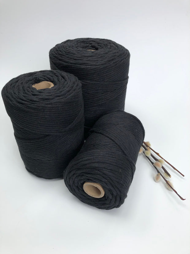 Premium stringrope 5 mm - black - recycled material (Spanish line)