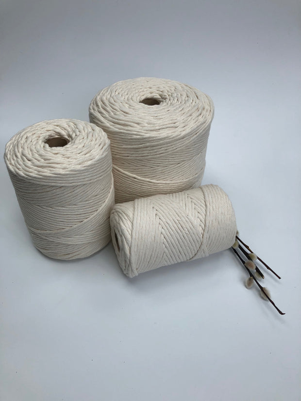 Premium stringrope 5 mm - crudo (off white) - recycled material (Spanish line)