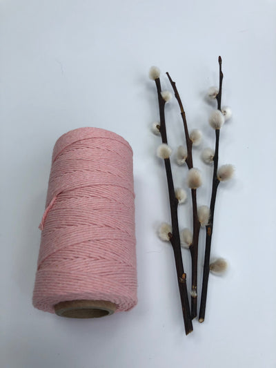 Waxed Cotton, 1 mm - Baby Pink (Spanish Line)