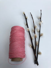 Polished and Waxed Linen (0.7mm) - Pink (Spanish Line)