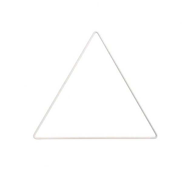White metal triangle frame - 20 cm