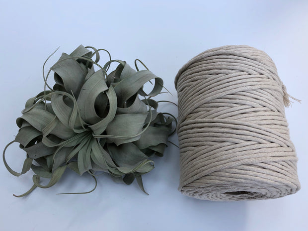 Sandy, 5 mm supersoft single twisted cotton stringrope - recycled cotton