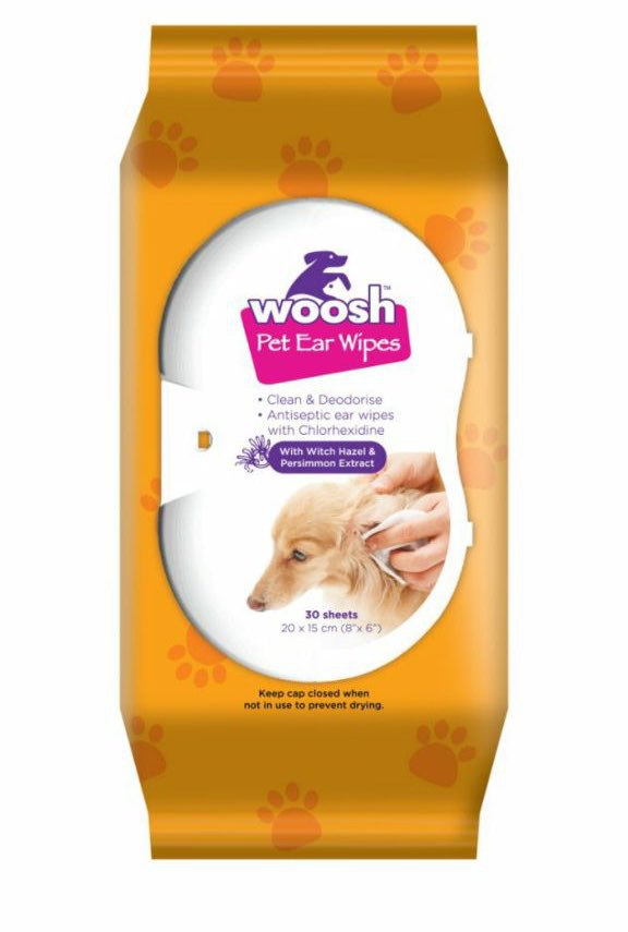Woosh's Pet Ear Wipes For Cats & Dogs (30ct)