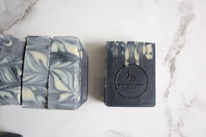 Unscented Raw Goat's Milk Soap with Aloe & Charcoal - 6oz