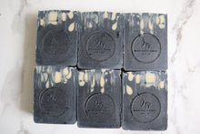 Load image into Gallery viewer, Unscented Raw Goat's Milk Soap with Aloe & Charcoal - 6oz
