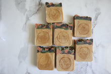 Load image into Gallery viewer, Citrus & Eucalyptus Exfoliating Raw Goat's Milk Soap with Clay and Apricot - 6oz