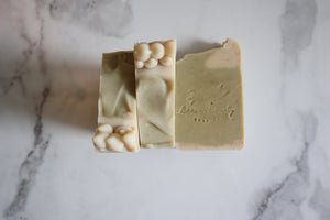 Lemongrass & Rosemary Raw Goat's Milk Soap - 6oz