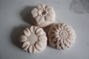 Coconut Milk Salt Soap - Flowers