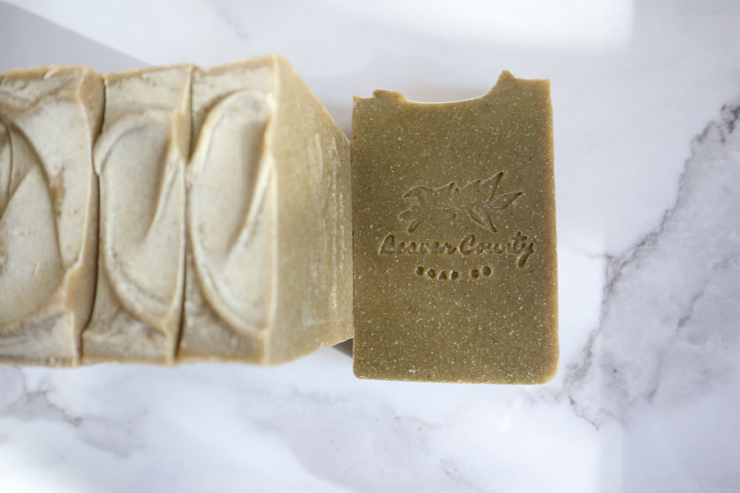 Tea Tree & Cedarwood Exfoliating Raw Goat's Milk Soap