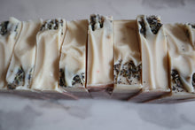 Load image into Gallery viewer, Lavender, Bergamot, & Lemon Raw Goat's Milk Soap