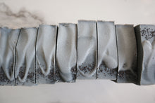 Load image into Gallery viewer, Cedar & Peppermint Charcoal Raw Goat's Milk Soap